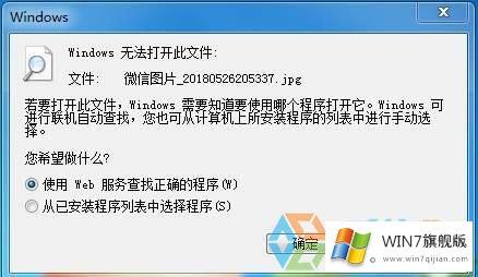 win7旗舰版提示windows无法打开此文件